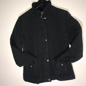Pre-owned NorthCrest Black Quilted Jacket Small